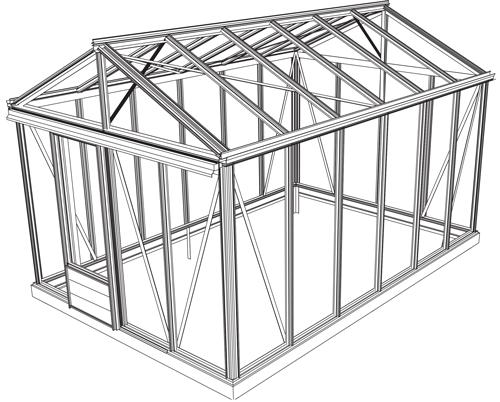 monter une serre de jardin en aluminium et verre nos