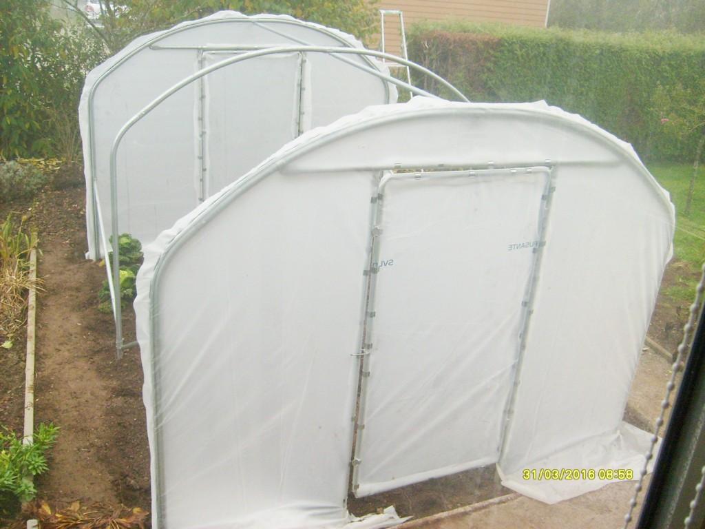 Photos de serre tunnel de jardin mod le saumuroise largeur 3 m - Installation serre tunnel ...