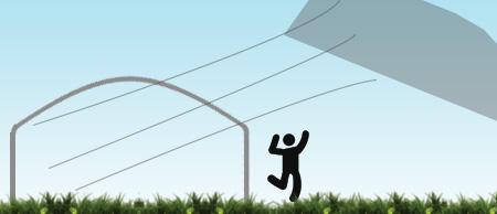 Arrachement de bâche par le vent