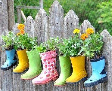 bottes pots de fleur