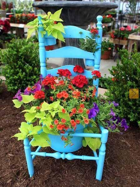 chaise pot de fleur