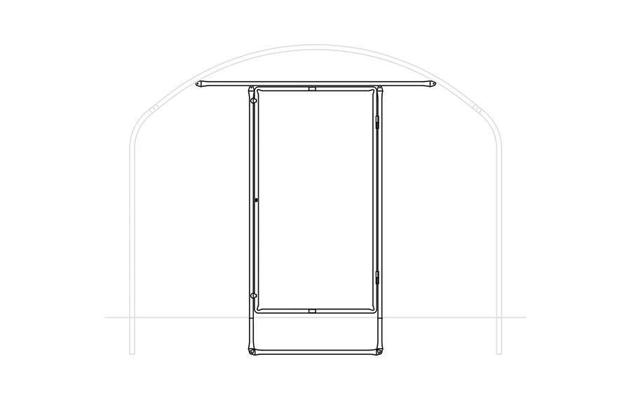 Composition du kit porte - portes de serres et accessoires