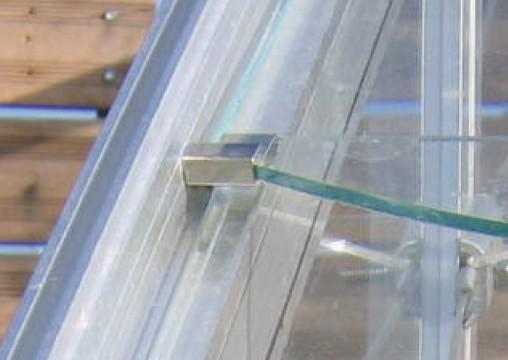 Crochets de vitrage S pour serre en verre