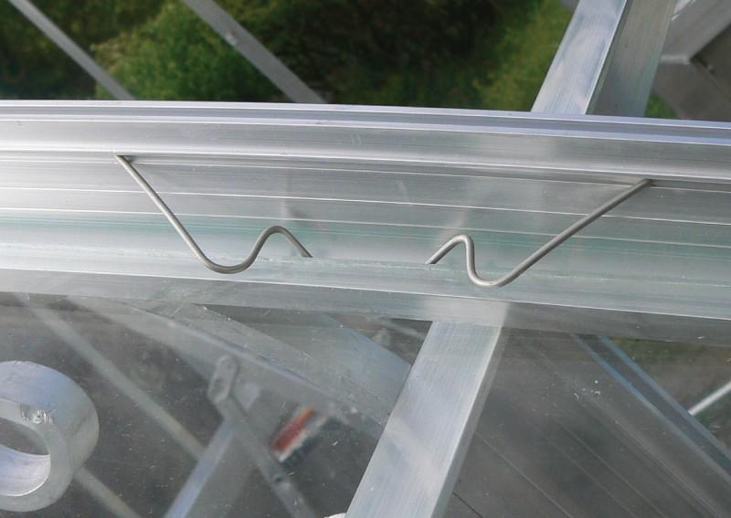 Crochets de vitrage W pour serre en verre