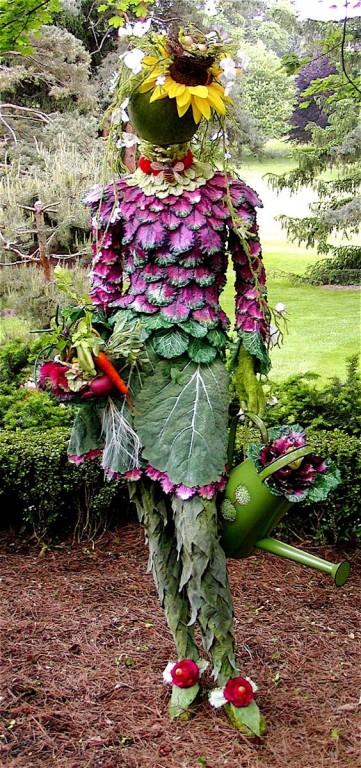 femme jardin