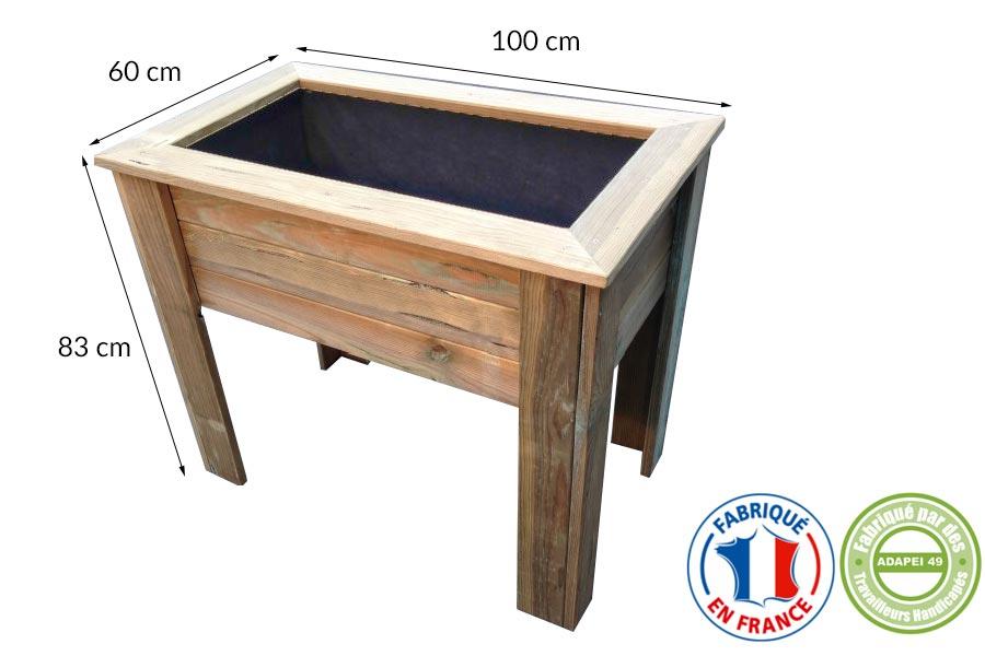 nouveaux produits bacs plantes bois fabriqu s en entreprise adapt e. Black Bedroom Furniture Sets. Home Design Ideas