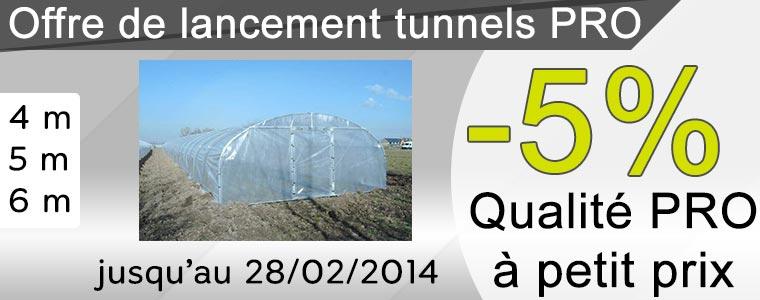 Promotion sur tunnels pros