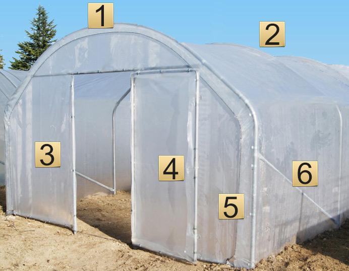 Description des l ments composant une serre tunnel de jardin - Arceaux pour serre de jardin ...