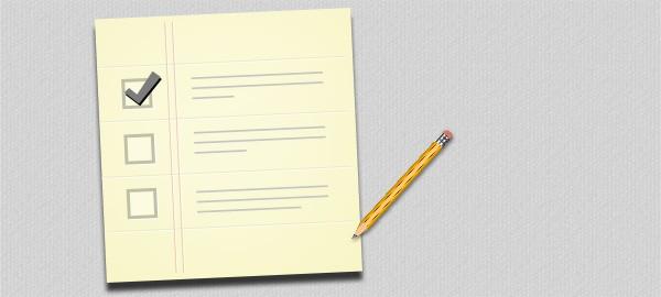 Check-list ou formulaire