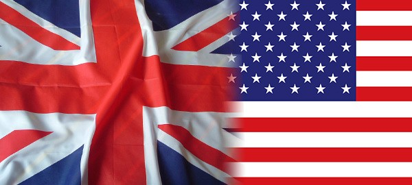 Flags fromthe UK and USA