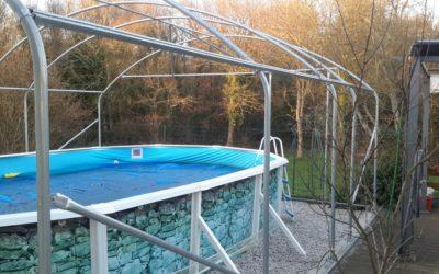 Photos de client : serre transformée en abri de piscine