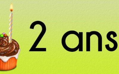 Fêtons les deux ans du blog !