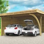 Carport double en bois