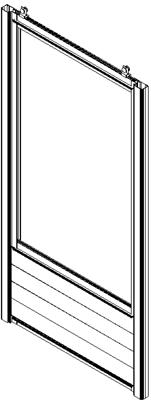 Croquis d'une porte coulissante de serre
