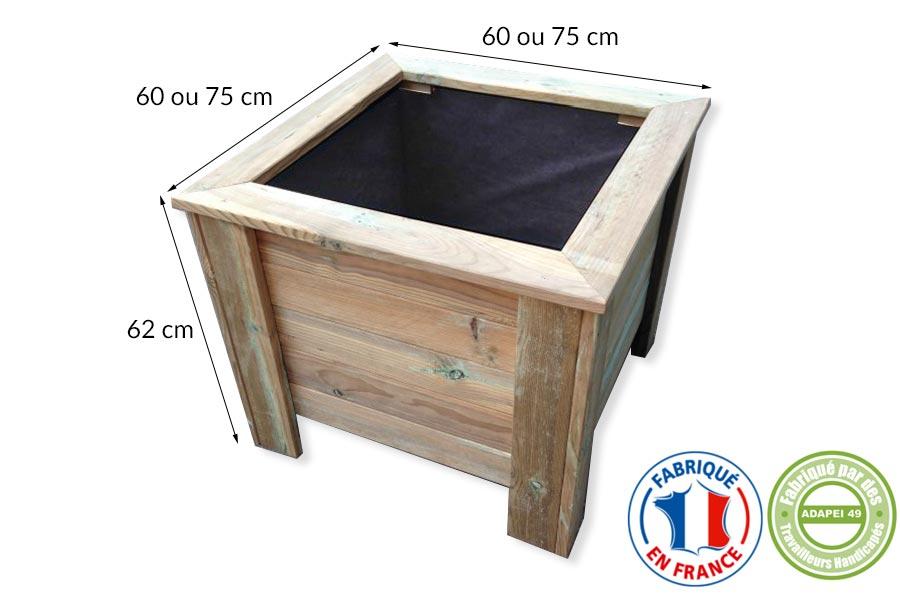 Nouveaux produits bacsà plantes bois, fabriqués en entreprise adaptée # Bac À Plantes En Bois