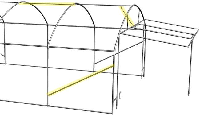 Utilisation du tube écrasé poinçonné dans une serre