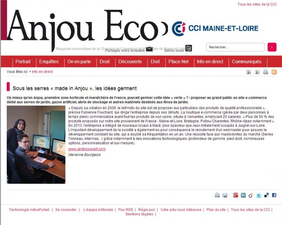 Article de presse Jardin Couvert