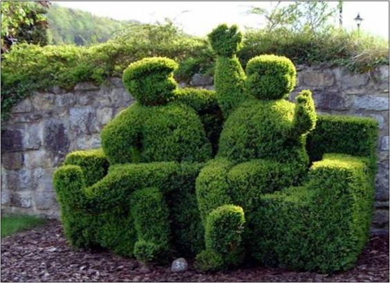 couple arbuste
