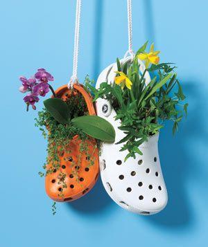 crocs pots de fleur