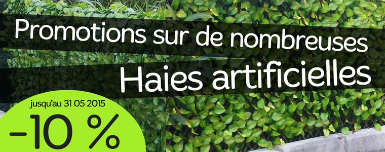 Haie artificielle en promotion