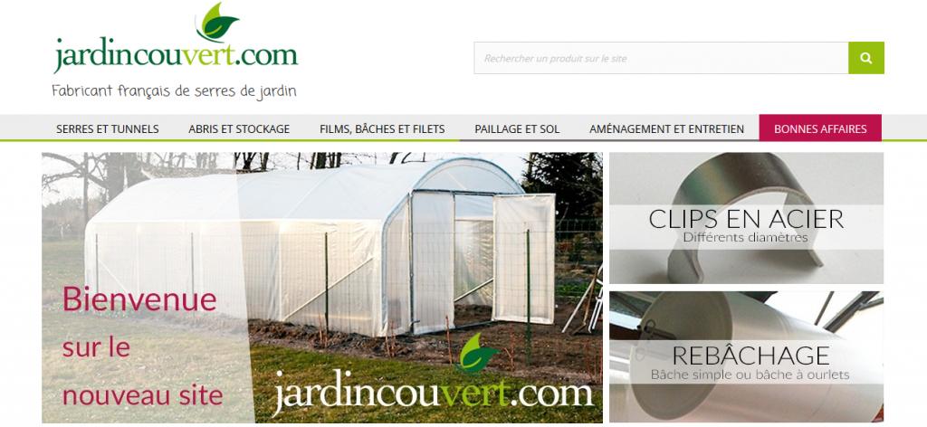 Nouveau site pour jardin couvert refonte du site internet for Jardin couvert