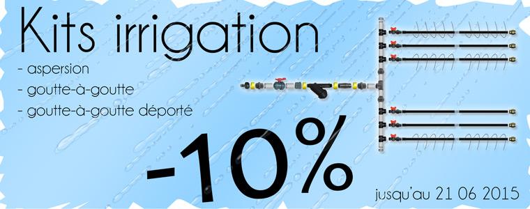 Promotion sur kit irrigation