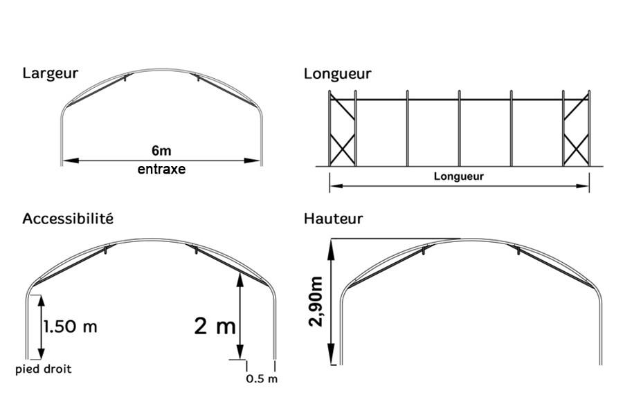 abri de stockage 6 m tres pro un abri polyvalent pour le stockage. Black Bedroom Furniture Sets. Home Design Ideas