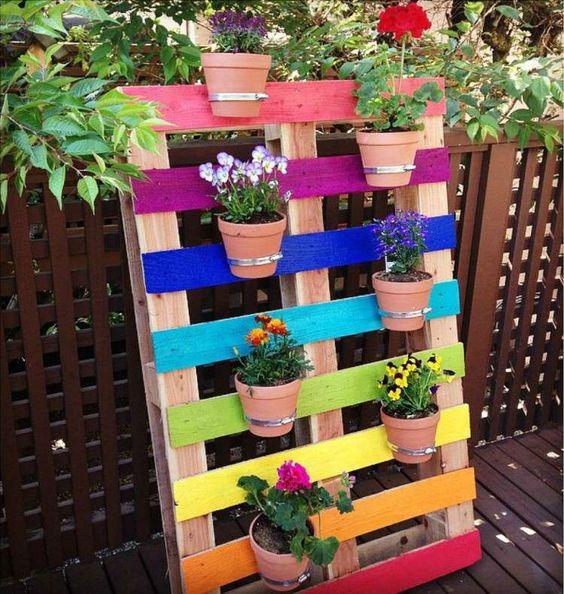 palette en bois jardin