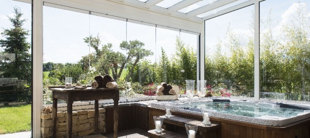 veranda spa piscine
